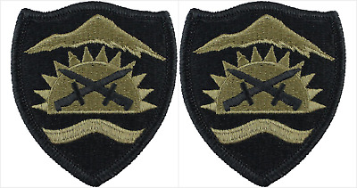 2 Pack Oregon Army National Guard OCP Scorpion Hook Back Military Patches