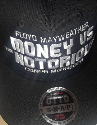 Notorious Money Floyd Mayweather Conor Mcgregor Fight Vegas Boxing Event Hat Ufc