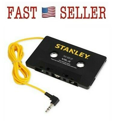 STANLEY Universal 3.5mm Cassette Tape Adapter for Phones and Mobile Devices -NEW