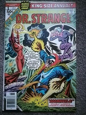 """Dr. Strange King-Size Annual #1_1976_Very Good+_""""doomworld""""_All-New_Bronze Age!"""