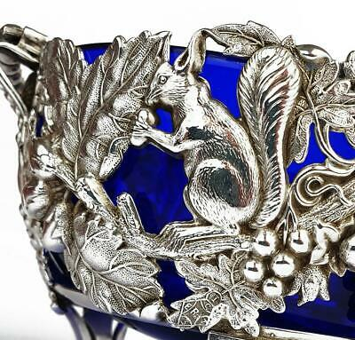 Fine EARLY VICTORIAN SILVER PLATED SQUIRREL SUGAR BASKET c1844 REGISTRY MARK