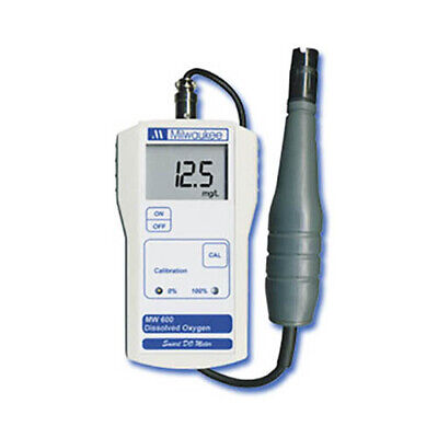 Milwaukee MW600 Dissolved Oxygen Meter, 0.0 - 19.9 ppm O2/I