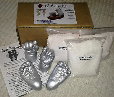 BABY HAND & FOOT CASTING KIT- 100% Safe. TGA REGISTERED.