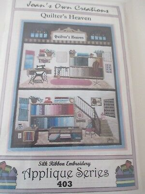 Joan's Own Creations Quilter's Heaven Silk Ribbon Embroidery Applique Series