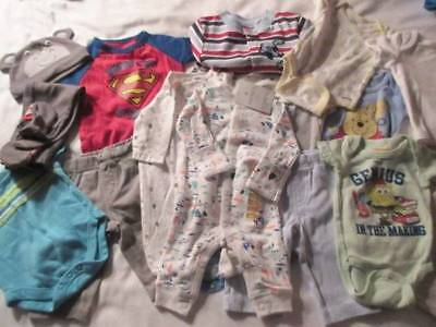 NWT Baby Boy Lot NB 0-3m 3m Miscellaneous EUC One-Pieces Sleepers Pants Hat More