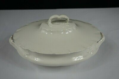 Antique Vodrey Brothers Semi Porcelain Covered Oval Vegetable Bowl - Rare