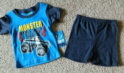 Monster Truck boys 12 month blue 2 piece outfit