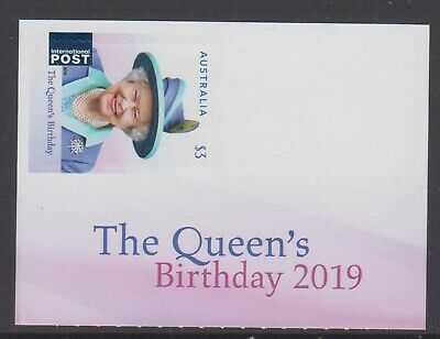 Australia 2019 Queen's Birthday Mint unhinged descriptive label booklet stamp