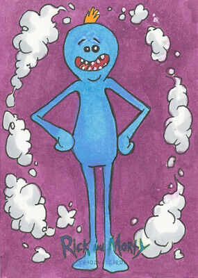 MR. MEESEEKS Cryptozoic RICK AND MORTY Artist Sketch Card Original Art ACEO 1/1