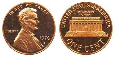 1976 S GEM BU PROOF Lincoln MemoriaL BRILLIANT UNCIRCULATED PENNY US COIN US PF