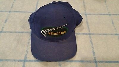 wholesale dealer db7be 3adf4 Vintage Notre Dame Fighting Irish Box Seat Snapback Hat 90 s Deadstock  Throwback