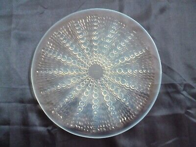 Rene Lalique Oursins Crystal Plate Great Condition