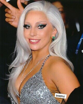 LADY GAGA GLOSSY PHOTO 8 x 10 MUSIC CELEBRITY PICTURE WHITE HAIR