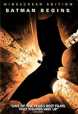 Batman Begins  DVD; Widescreen Edition, New, Sealed, staring Christian Bale,