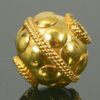 10.15 mm Gold Vermeil Sterling Silver Bali Bead 24K Gold-Plated 1.85 g
