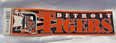 Vintage ORIGINAL Detroit Baseball TIGERS 12 inches (30 cm) sticker 1980's