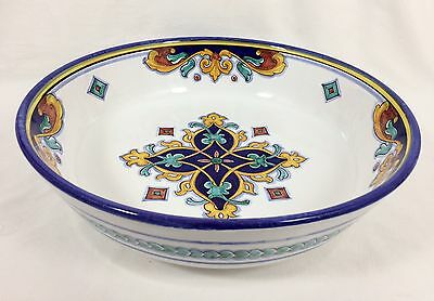 """Deruta Italy Pottery 15"""" Serving Display Bowl Hand Painted Gialletti Pimpinelli"""