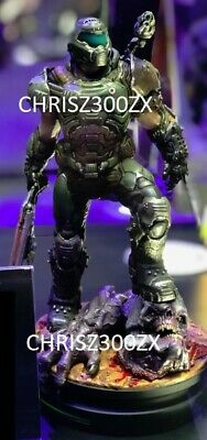 "Modern Icons Doomguy Doom Eternal Doom Slayer Statue Figure 9"" Tall - Bethesda"