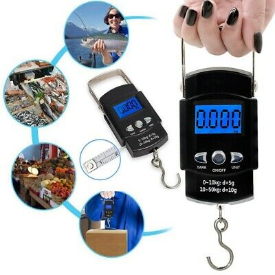 Electronic Portable Digital Luggage Scale Handheld Travel Fish Weighing 50KG