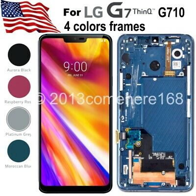 LG G7 ThinQ G710 LCD OLED Display Touch Screen Digitizer Assembly+Frame Replace