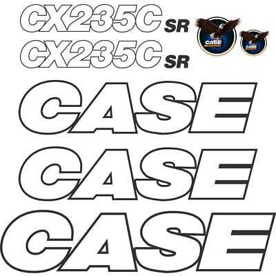 CASE CX235C SR Decals Leter Style Repro Decal Sticker kit