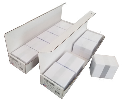 NEW wrapped 100 White Blank PVC Plastic Photo ID Cards Badge CR30 .30 mil