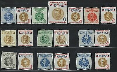 Scott# 1096-1175 CHAMPIONS OF LIBERTY COMPLETE SET Mint Never Hinged (19 Stamps)