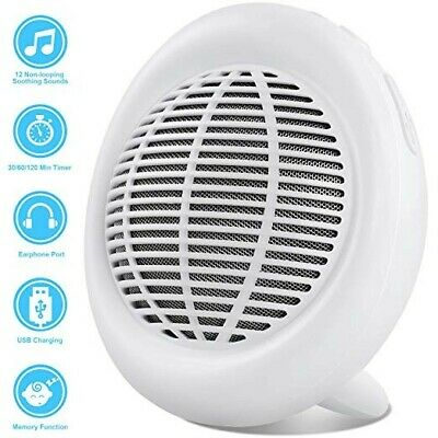 ZIPOUTE White Noise Machine, 12 Natural Sounds, 3 Sleep Timers