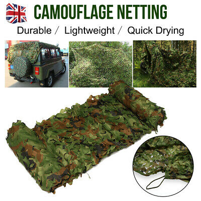 Camouflage Net Camo Netting Hunting Shooting Hide Army Woodlands 2*3m/4*6m UK