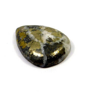 60 Cts. 100% Natural Pyrite Loose Cabochon Gemstone UNG19539