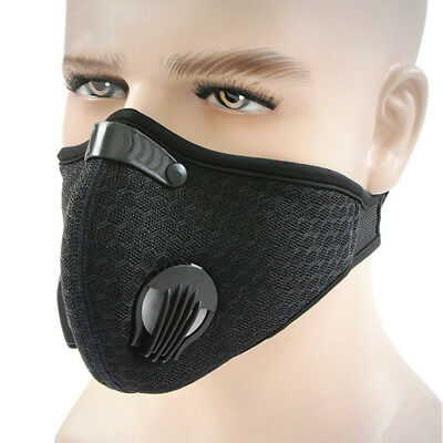 Black NEW Anti Smoke Dust Filtered Activated Carbon Air Purifying Half Face Mask