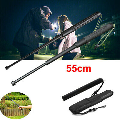 Telescopic Sticks Portable Retractable Outdoor Self-Defense Three Sections Whip