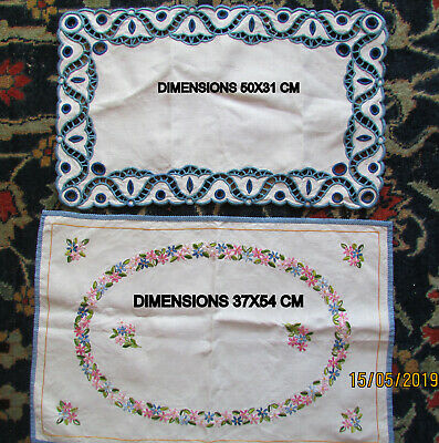 Napperons Anciens Brodes Et Festonnes Main 1950 /French Antic Embroidery 1950
