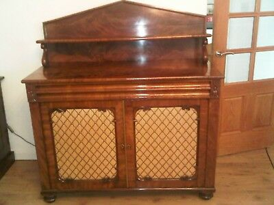 Beautiful Antique Victorian Chiffonier Sideboard Flame Mahogany With Drawer