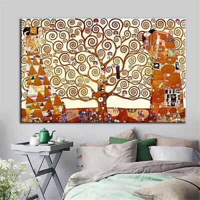 Gustav Klimt Oil Painting The Tree of Life Canvas Print Wall Painting Home Decor