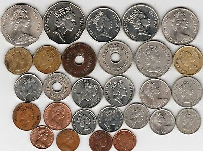 28 different world coins from FIJI