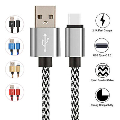 For Samsung Galaxy A50 A30 M20 USB-C 3.1 Type C Fast Charging Cable Data Charger