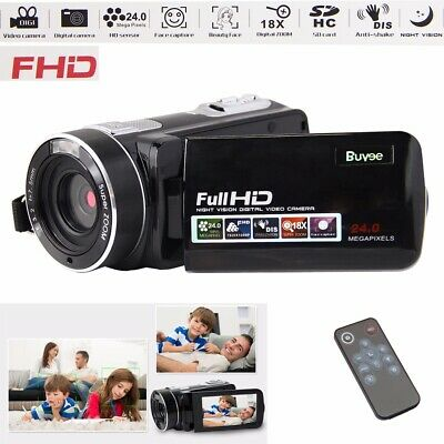 HD1080P 24MP Digital Video Camera Recorder Night Vision Remote Control Camcorder