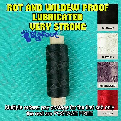 Strong Bonded Nylon Thread Size 30 100M-Upholstery,Canvas,Leather..hand Sewing
