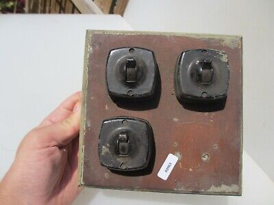 Vintage Ceramic Light Switch Board Art Deco Retro Old Toggle Dolly Switches