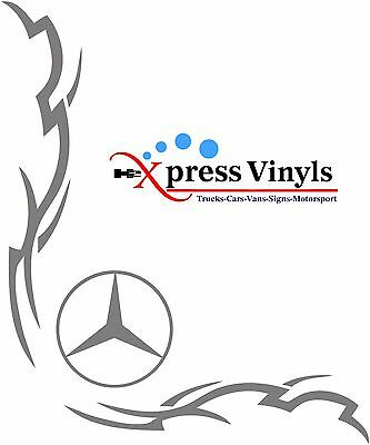 Mercedes truck decals x 2. van sticker graphic Actros Axor Atego Sprinter