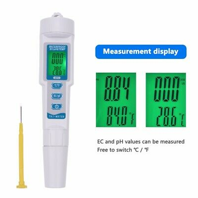 3 in 1 LCD Display Pen Type TDS EC PPM Water Quality Tester PH Monitor For Pool