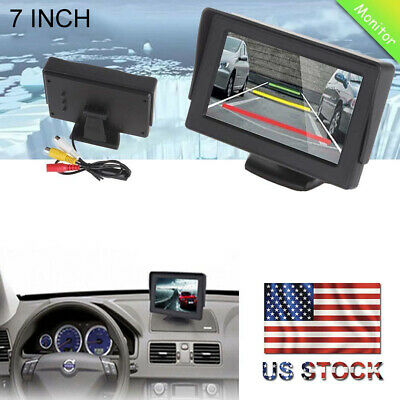 """4.3"""" TFT LCD Color Screen 2 Video Input Car Rear View Camera DVD VCR Monitor FZ"""