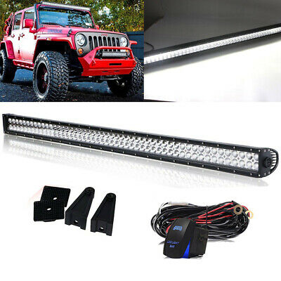 """52Inch CREE Straight Led Light Bar Spot Flood Offroad Driving Lamp SUV 4WD 50"""""""