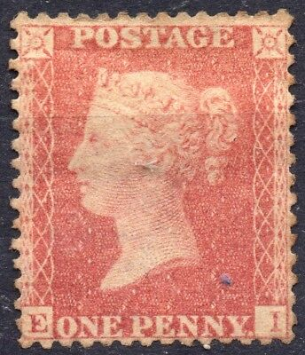 1857 QV 1d Red Star E-I C10 (Plate 60) Perf 14 Large Crown Mounted Mint