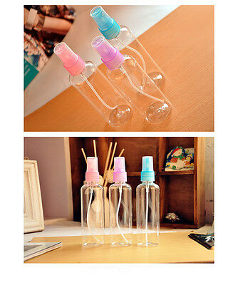 10X 100ML Clear Plastic Perfume Atomizer Empty Spray Bottle Travel Makeup Beauty