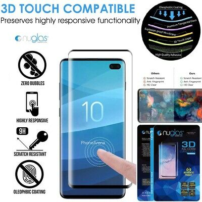 NUGLAS 3D Tempered Glass Screen Protector Samsung Galaxy S10 S9 S8 Plus Note 9 8