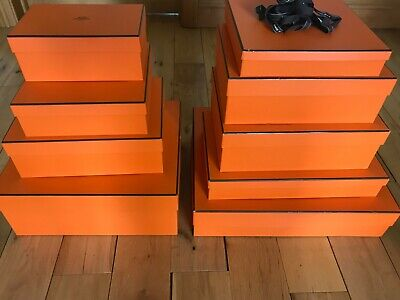 9 x Empty Hermes Paris Gift Boxes in many sizes