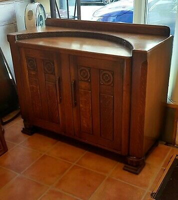 Vintage Art Deco Oak Sideboard