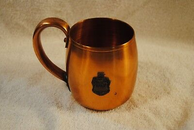 Vintage Solid Copper Moscow Mule Cup Mug West Bend Aluminum Co Coat of Arms